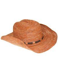 Frye Raffia Cowboy Dean Hat - Brown