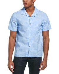 Ovadia Sunwash Beach Woven Shirt - Blue