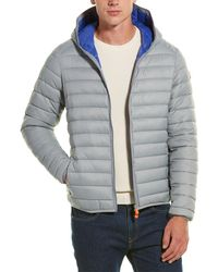 Save The Duck Basic Hooded Coat - Gray