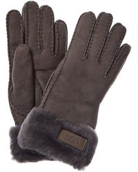 UGG Turn Cuff Gloves - Gray