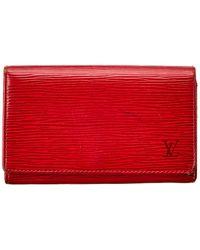 Louis Vuitton Red Epi Leather Tresor Wallet