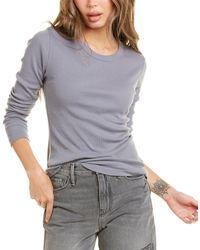 James Perse Long Sleeve Ribbed T-shirt - Grey