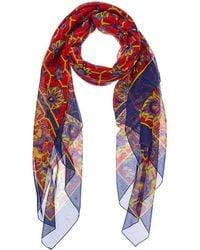 Hermès Blue & Red Cotton Scarf