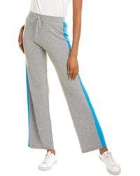 Chinti & Parker Side Stripe Wool & Cashmere-blend Pant - Grey