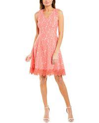 Donna Ricco A-line Dress - Pink