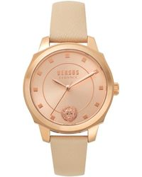 Versus New Chelsea Tan Leather Watch - Multicolour
