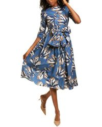 Max Mara Petalo Linen Sheath Dress - Blue
