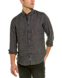 Rag & Bone Fit 2 Tomlin Shirt - Linen Slim Fit Button Down Shirt - Grey