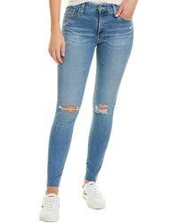 AG Jeans Farrah 24 Years Stark Destruct Skinny Ankle Cut - Blue