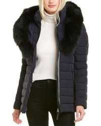 Mackage Kadalina-bx Leather-trim Jacket - Blue