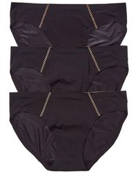 DKNY 3pk Essential Microfiber Bikini - Black