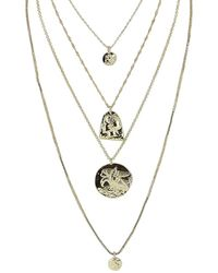 Sparkling Sage - Plated Multi-layer Necklace - Lyst