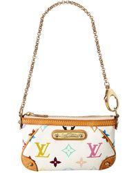 Louis Vuitton White Monogram Multicolore Canvas Pochette Milla Pm - Multicolour