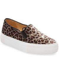 Charlotte Olympia - Leopard Slip-on Platform Sneaker - Lyst