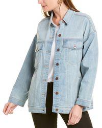 Eileen Fisher Classic Denim Jacket - Blue