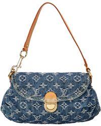 Louis Vuitton - Blue Monogram Denim Mini Pleaty - Lyst