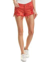 Hudson Jeans Kenzie Red Alert Cut Off Short