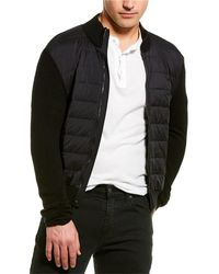 James Perse Wool & Cashmere-blend Down Sweater Jacket - Black