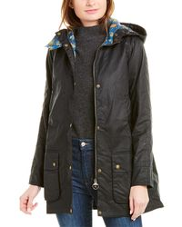 Barbour Love Waxed Trench Coat - Blue