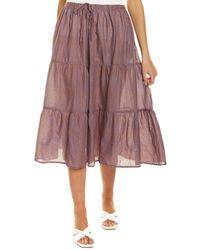 Velvet By Graham & Spencer Dina Midi Skirt - Blue