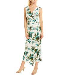 Melissa Masse Printed Wrap Dress - Green
