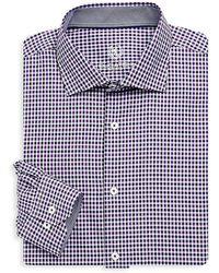 Bugatchi - Long Sleeve Woven Check Shirt - Lyst