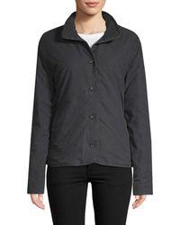 James Perse Button-front Jacket - Black