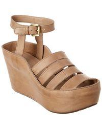 Chocolat Blu - Wilson Leather Wedge Sandal - Lyst