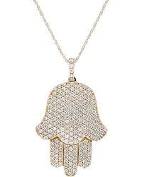 Diana M. Jewels . Fine Jewellery 18k 2.19 Ct. Tw. Diamond Necklace - Metallic