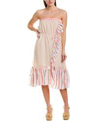 lemlem Flounced Convertible Dress - Pink
