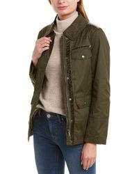 Sam Edelman Short Waxed Field Jacket - Green