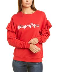 South Parade Relaxed Boyfriend Sweatshirt - Red