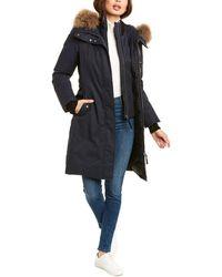 Mackage Harlowe Leather-trim Down Coat - Blue