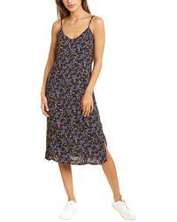 Bobeau Floral Slip Dress - Black