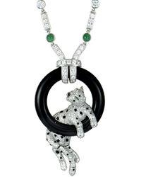 Cartier Cartier 18k & Platinum 11.69 Ct. Tw. Diamond & Gemstone Necklace - Metallic