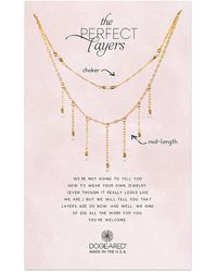 Dogeared - Core Collection 14k Over Silver 1-2mm Pearl & Crystal Set Of 2 Necklaces - Lyst