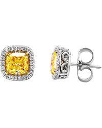 Diana M. Jewels . Fine Jewellery 18k & Platinum 4.42 Ct. Tw. Diamond Studs - Metallic