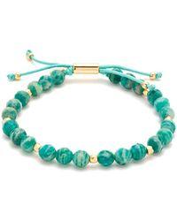 Gorjana - Power Gemstone 18k Plated Russian Amazonite Beaded Bracelet - Lyst