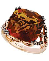 Le Vian ? 14k Rose Gold 13.85 Ct. Tw. Diamond & Quartz Ring - Metallic