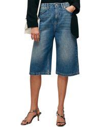 Whistles Denim Culotte Skirt - Blue