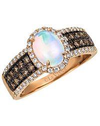 Le Vian 14k Rose Gold 1.14 Ct. Tw. Diamond & Neopolitan Opal Ring - Metallic