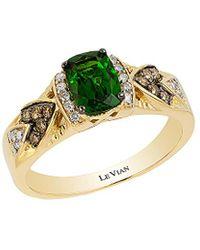 Le Vian 14k 0.98 Ct. Tw. Diamond & Chrome Diopside Ring - Metallic