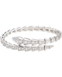 bvlgari bulgari serpenti 18k diamond bracelet lyst