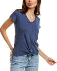 Bobi Tie-front T-shirt - Blue