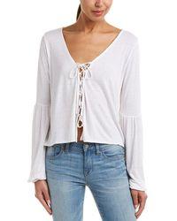 Amuse Society Spencer Linen-blend Top - White