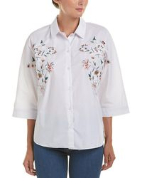 Haute Rogue Bailey Embroidered Blouse - White
