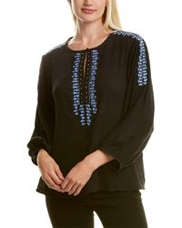 Nanette Lepore Highlands Silk Top - Black