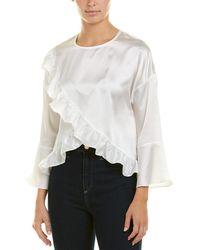 Lucca Couture Caroline Tulip Top - White