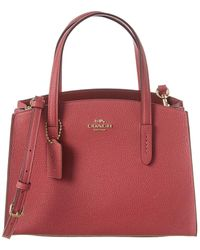 COACH Charlie 28 Leather Carryall Tote - Pink