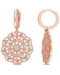 Rina Limor 14k Rose Gold 0.20 Ct. Tw. Diamond Earrings - Multicolour